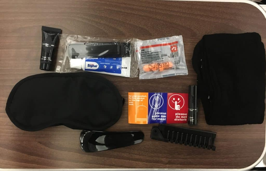 turkish airlines business class amenity kits